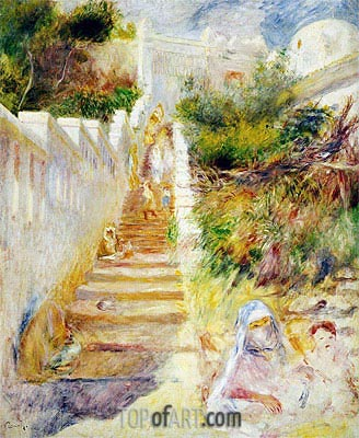The Steps, Algiers, c.1882 | Renoir | Painting Reproduction