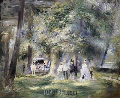 In the Park at Saint-Cloud, 1866 | Renoir| Painting Reproduction