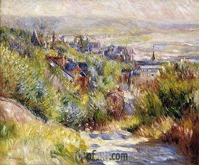 The Heights of Trouville, undated | Renoir | Gemälde Reproduktion