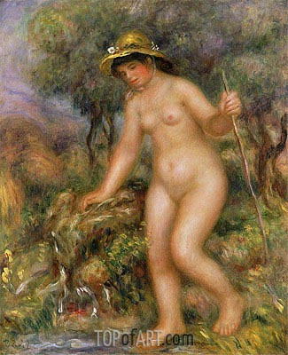 The Source (Gabrielle Nude), undated | Renoir | Painting Reproduction