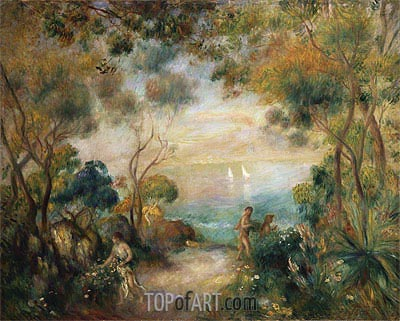 A Garden in Sorrento, undated | Renoir | Painting Reproduction