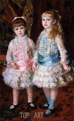 Pink and Blue (The Cahen d'Anvers Girls), 1881 | Renoir| Painting Reproduction