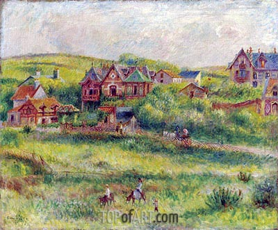 The House of Blanche Pierson, Pourville, 1882 | Renoir | Painting Reproduction
