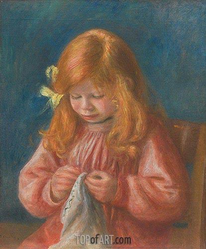 Jean Renoir Nähen, 1899/00 | Renoir | Gemälde Reproduktion