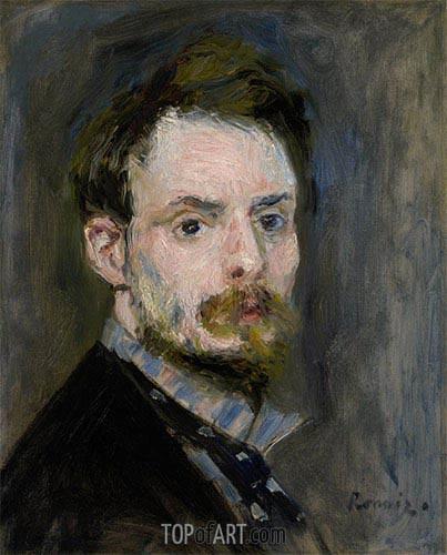 Selbstporträt, c.1875 | Renoir | Gemälde Reproduktion