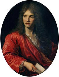 Portrait of Moliere, undated by Pierre Mignard | Painting Reproduction