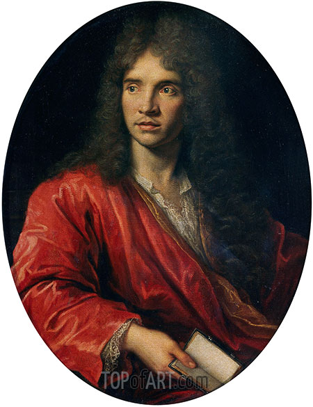 Portrait of Moliere, undated | Pierre Mignard | Painting Reproduction