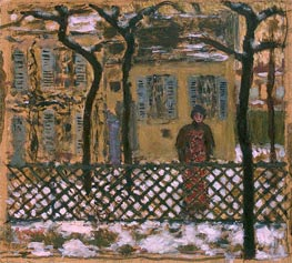 Behind the Fence | Pierre Bonnard | outdated