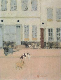 Two Dogs in a Deserted Street | Pierre Bonnard | Painting Reproduction