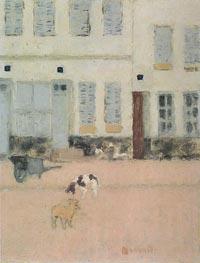 Two Dogs in a Deserted Street, c.1894 von Pierre Bonnard | Gemälde-Reproduktion