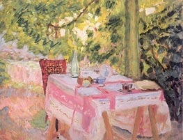 Table Set in a Garden, c.1908 by Pierre Bonnard | Painting Reproduction