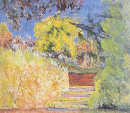 Stairs in the Artist's Garden | Pierre Bonnard | Painting Reproduction