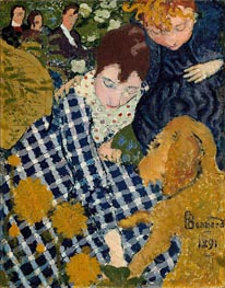 Women with Dog | Pierre Bonnard | Painting Reproduction