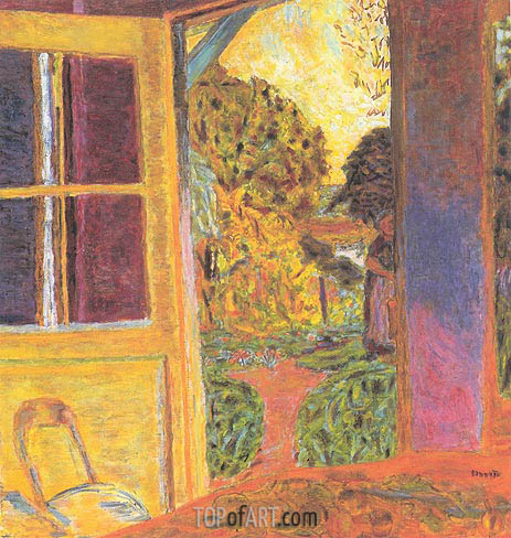 Door Opening onto the Garden, 1924 | Pierre Bonnard | Painting Reproduction