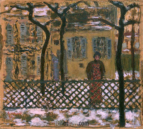 Pierre Bonnard | Behind the Fence, 1895