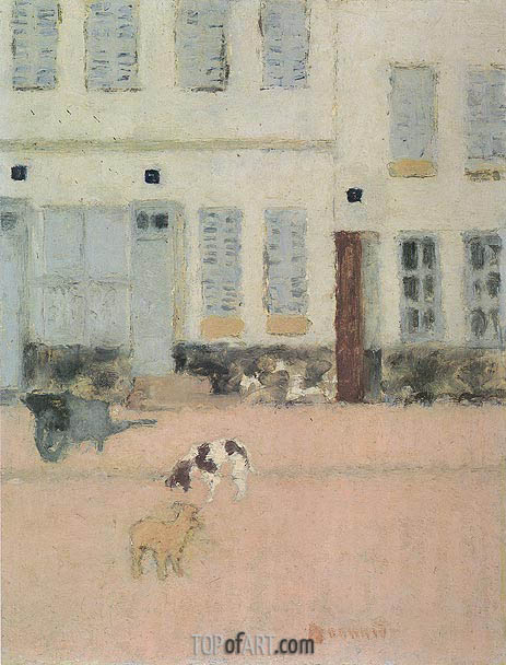 Pierre Bonnard | Two Dogs in a Deserted Street, c.1894