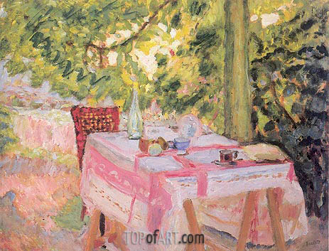 Table Set in a Garden, c.1908 | Pierre Bonnard | Gemälde Reproduktion
