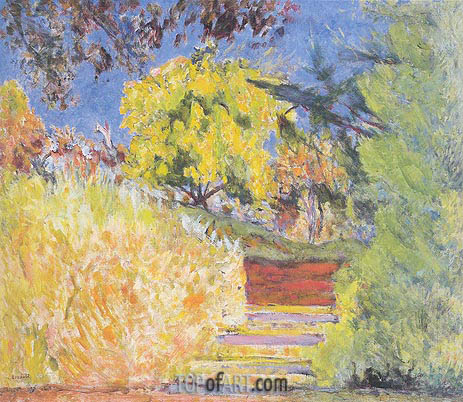 Stairs in the Artist's Garden, c.1942/44 | Pierre Bonnard | Painting Reproduction