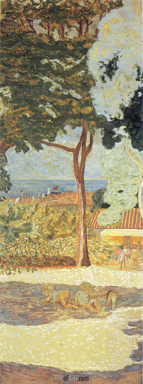 The Mediterranean. Triptych - Central Part, 1911 | Pierre Bonnard | Gemälde Reproduktion