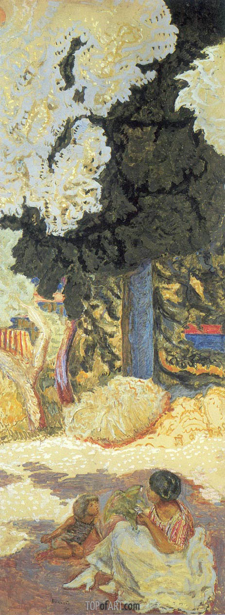 The Mediterranean. Triptych - Right Part, 1911 | Pierre Bonnard | Painting Reproduction