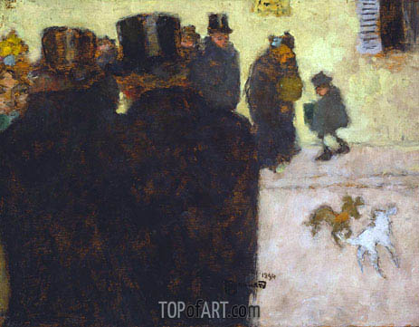 Pierre Bonnard | The Street in Winter, 1894