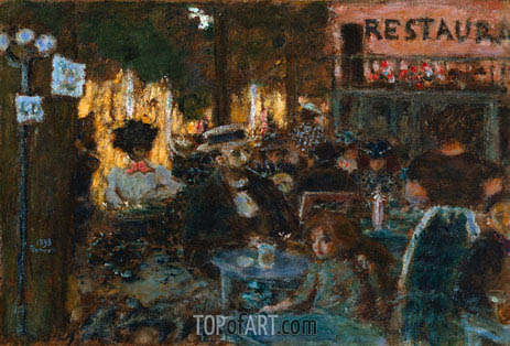Cafe Terrace, 1898 | Pierre Bonnard | Painting Reproduction