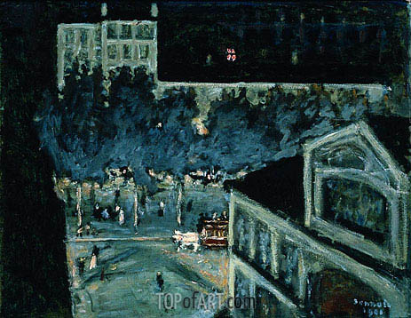 Pierre Bonnard | Paris Boulevard at Night, 1900