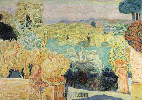 Landscape Southern France, 1916 | Pierre Bonnard | Painting Reproduction