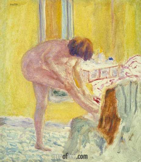 Pierre Bonnard | Nude Yellow Background, c.1924