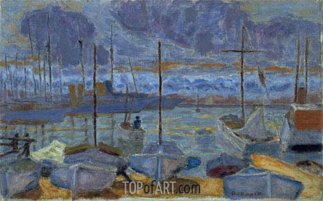 The Port of Cannes, 1927 | Pierre Bonnard | Gemälde Reproduktion