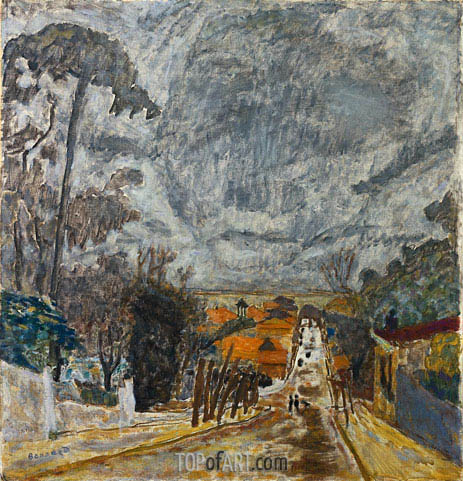 The Road to Nantes, 1929 | Pierre Bonnard | Gemälde Reproduktion