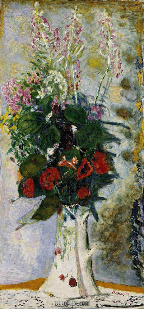 Pitcher with Flowers, c.1935 | Pierre Bonnard | Painting Reproduction