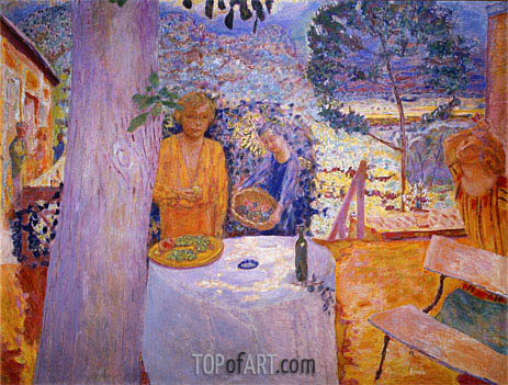 The Terrace at Vernon, 1939 | Pierre Bonnard | Painting Reproduction