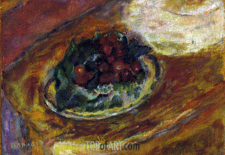 Still Life Cherries, c.1942 | Pierre Bonnard | Painting Reproduction