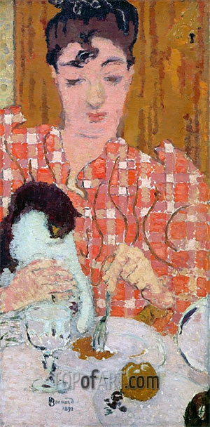 Pierre Bonnard | The Checkered Blouse, 1892
