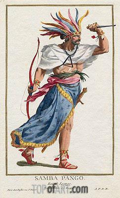 Sambo Pango, Roi de Loango, Undated | Pierre Duflos | Painting Reproduction