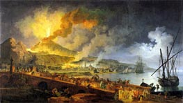 Eruption of Vesuvius in 1771, 1779 by Pierre Jacques Volaire | Painting Reproduction