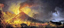 The Eruption of Vesuvius, undated by Pierre Jacques Volaire | Painting Reproduction