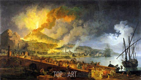 Eruption of Vesuvius in 1771, 1779 | Pierre Jacques Volaire | Painting Reproduction