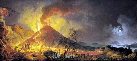 The Eruption of Vesuvius, undated | Pierre Jacques Volaire | Gemälde Reproduktion