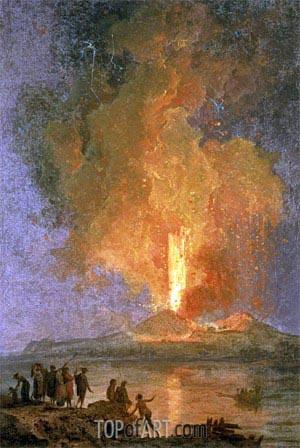 Pierre Jacques Volaire | The Eruption of Vesuvius, undated