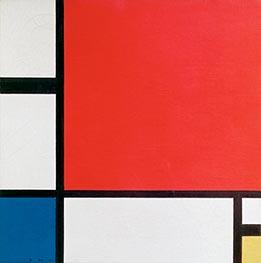 Composition with Red, Yellow, Green, 1930 by Mondrian | Painting Reproduction