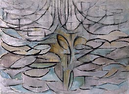 Blossoming Apple Tree, 1912 by Mondrian | Painting Reproduction