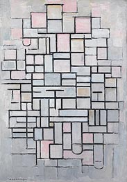 Composition no. IV, 1914 by Mondrian | Painting Reproduction