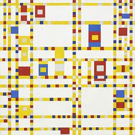 Broadway Boogie Woogie, c.1942/43 by Mondrian | Painting Reproduction
