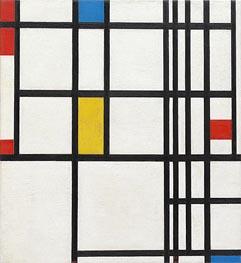 Komposition in Rot, Blau und Gelb, c.1937/42 von Mondrian | Gemälde-Reproduktion
