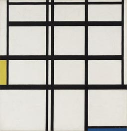 Composition in Yellow, Blue and White, I, 1937 by Mondrian | Painting Reproduction