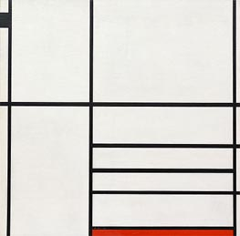 Composition in White, Black and Red, 1936 by Mondrian | Painting Reproduction