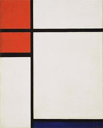 Composition with Red and Blue, 1933 by Mondrian | Painting Reproduction