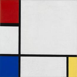 Composition No. IV, with Red, Blue and Yellow, 1929 by Mondrian | Painting Reproduction